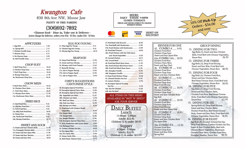 Kwangton Cafe Menu Image